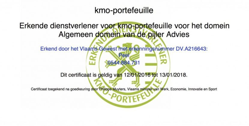 Peel Certification Kmo Portefeuille